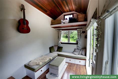 tiny house living room diy cottage style tiny house revisited living big in a tiny house
