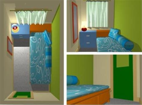 desain kamar tidur sempit minimalis ukuran  rumah