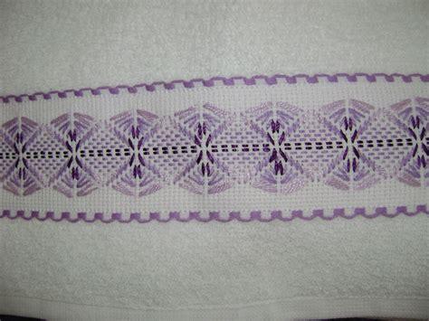 cenefas bordadas una segunda toallita juego de 3 bordadas con