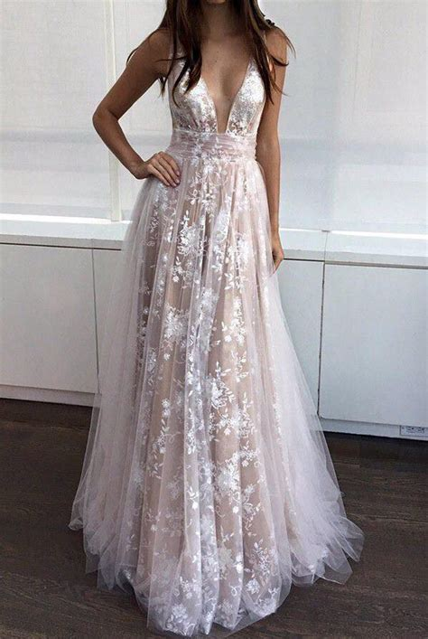 white lace prom dress v neck line white lace prom dresses formal dresses pd2322 183 didopromcouture