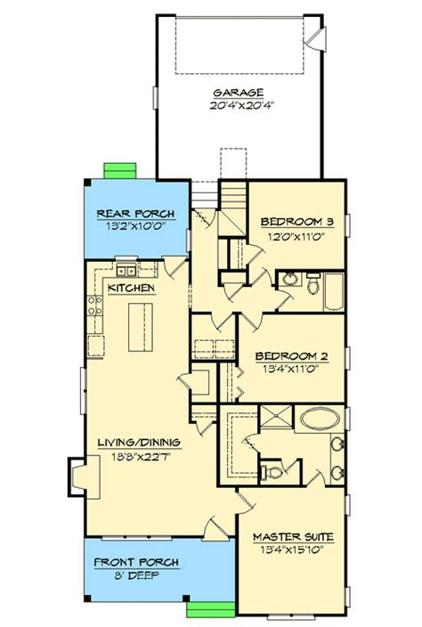 Narrow Lot Ranch House Plans by Ranch Home Plans For Narrow Lots House Design Plans