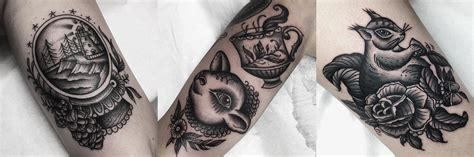 traditional tattoo black and grey tattoo collections