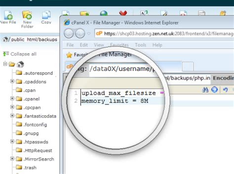 tutorial php ini web hosting linux customise the php ini file settings