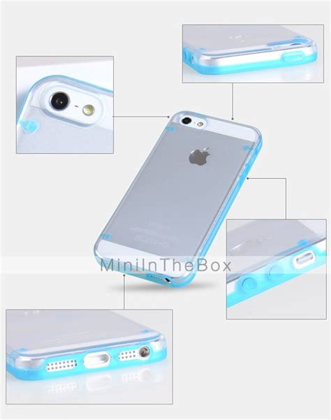 Iphone 5 5s Se Aru Back Soft Glow In The for iphone 5 glow in the transparent back cover solid color soft tpu