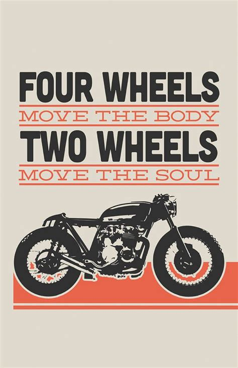 Poster Bingkau Kayu Cafe Racer honda cb550 cafe racer two wheels move the soul 1 11x17 in