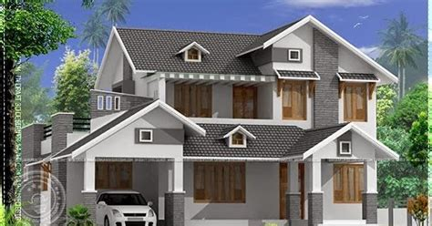 2015 sq ft sloping roof home kerala home design and 2367 square feet sloping roof home home kerala plans
