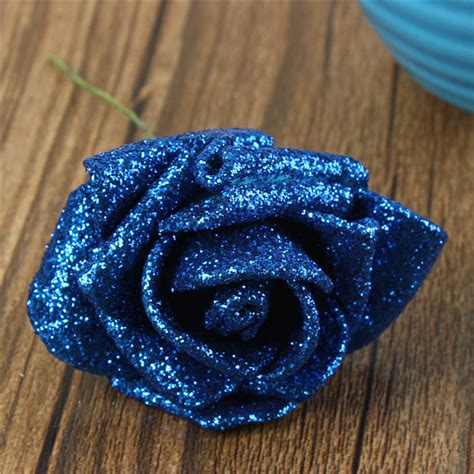 Handmade Foam Flowers - ebluejay 6 colors artificial diy nosegay handmade
