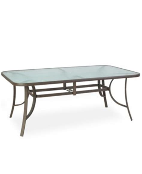 Macy S Patio Table Aluminum 84 Quot X 60 Quot Outdoor Dining Table Furniture Macy S