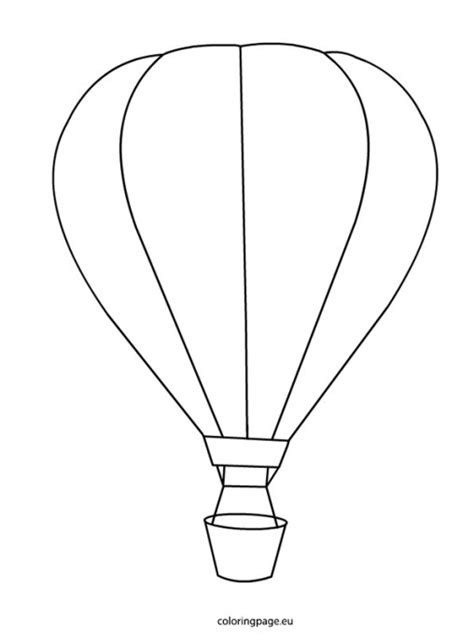 air balloon template air balloon coloring pages barriee