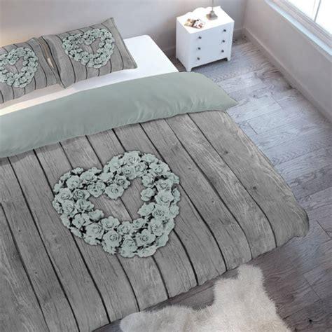 dekbed 140 x 200 2 persoons eenpersoons dekbedovertrek flower wood mint 1 persoons