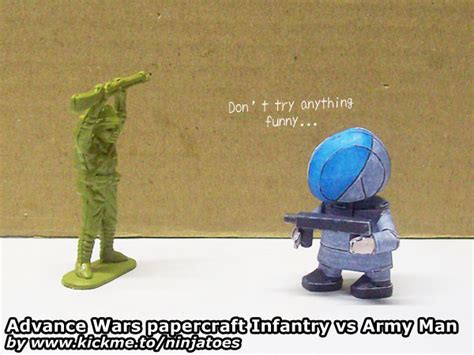 Advance Wars Papercraft - advance wars paper beats army plastic by