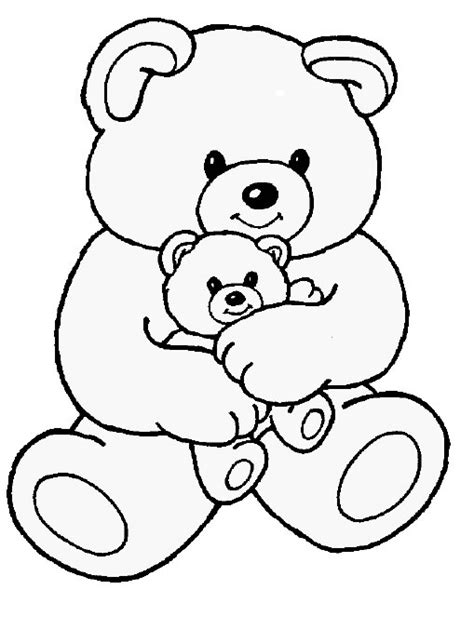 Free Printable Teddy Coloring Pages free coloring pages of teddy mask