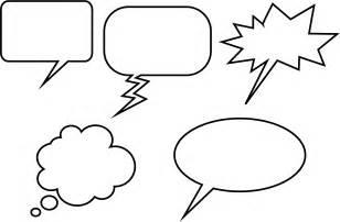 Speech Balloon Template by Free Printable Blank Speech Bubbles Clipart Best