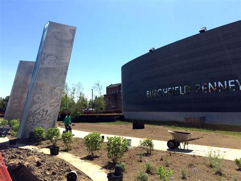 landscaping at burchfield penney art center underway
