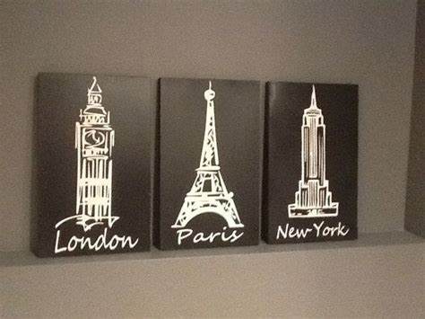 london paris new york bedroom theme london paris new york black and white 3 piece by customsigndisigns 45 00 wooden