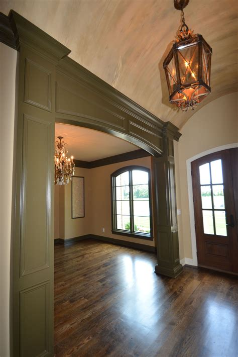 foyer dining room casing  buckley french country www