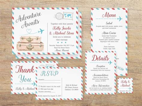20 printable travel theme wedding invitations southbound