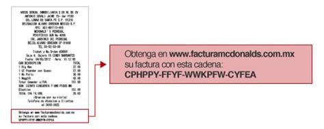 cadena oxxo factura electronica mcdonalds m 233 xico ticket para facturaci 243 n electr 243 nica