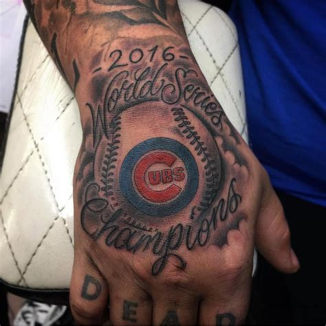 cubs tattoo ideas 50 sporty baseball designs for the of the