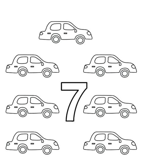 Number 7 Coloring Pages For Preschoolers by Number 7 Coloring Sheet Printable Pages For Toddlers