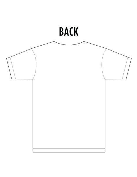 t shirt front and back template psd best photos of blank t shirt template front and back t