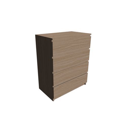 malm 4 drawer chest design and decorate your room in 3d