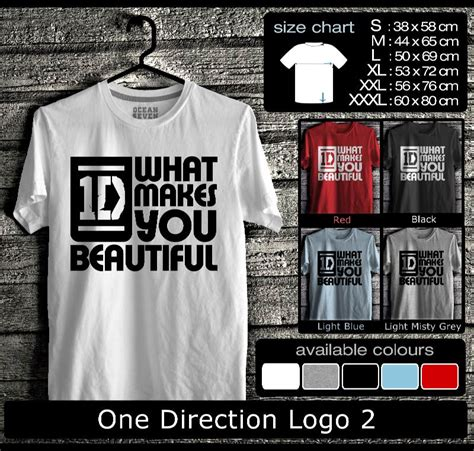 Kaos Lucu Logo One one direction logo 2 kaos distro seven