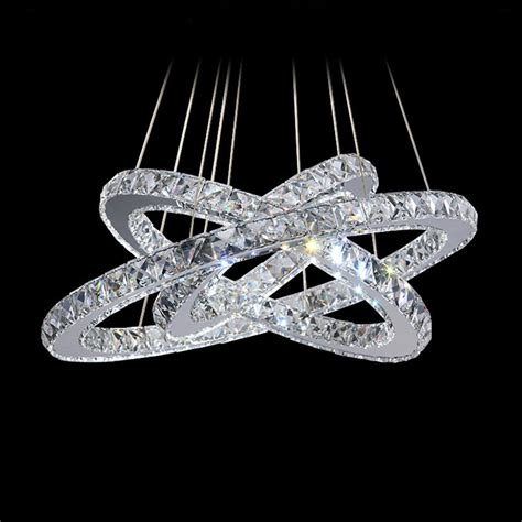 White Chandeliers 2015 Ring Led K9 Crystal Lustre Home Led Ring Chandelier