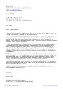 Application Letter For Fresh Graduate Marketing Staff Cover Letter Sample For A Fresh Graduate Of Office