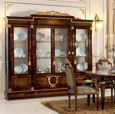 dining room glass cabinet 4 door glass cupboard for dining room