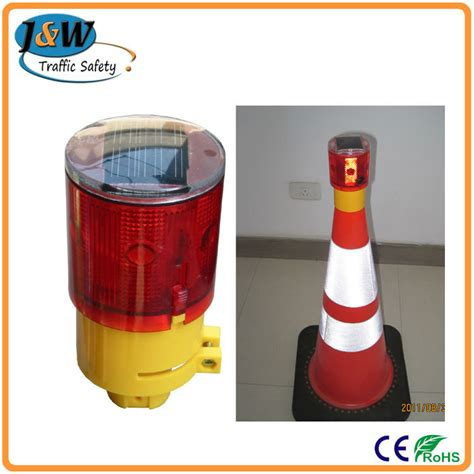 solar traffic cone l led warning light airport