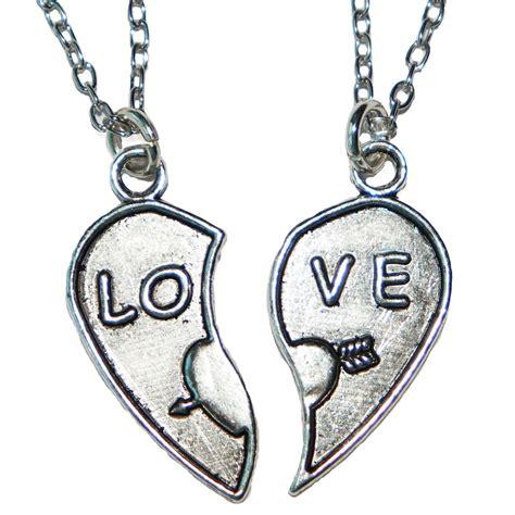 cadenas para novios collar coraz 243 n partido love p amor novios pareja