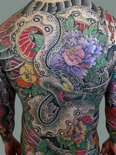 japanese back tattoo back japanese snake japaneseinked