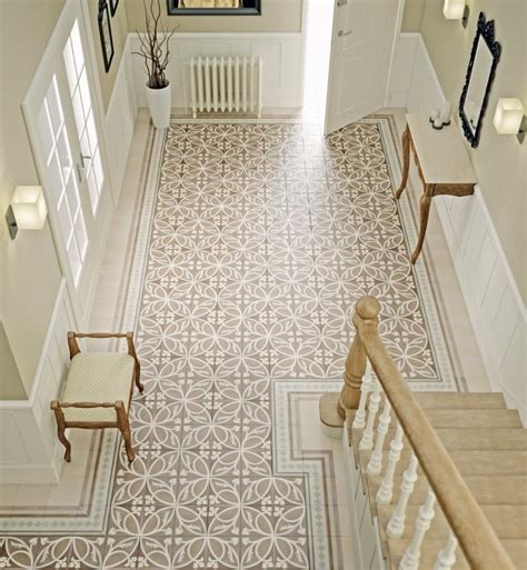 patterned hallway tiles a guide to using decorative patterned wall floor tiles