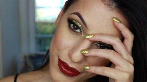 new year makeup new year s makeup tutorial gold glitter cut crease