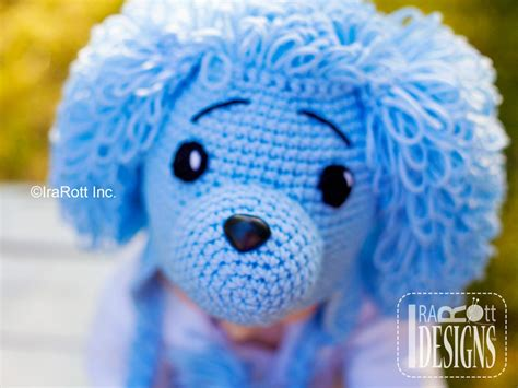 yarn poodle pattern loopy the poodle puppy dog hat pdf crochet pattern