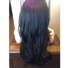 diy layered haircut upside down with bangs black hair and ombr 233 tips hair length with long layers
