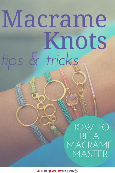 Easy Macrame Knots - how to macrame 7 must knots allfreejewelrymaking