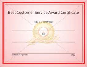 Customer Service Certificate Template by Best Customer Service Award Certificate Certificate Template