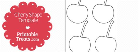 printable cherry shape template printable treats com