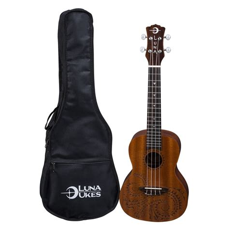 luna tattoo concert ukulele concert ukulele gig bag at gear4music