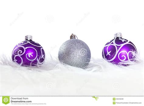 Superior Merry Christmas Light Sign #4: Purple-silver-christmas-baubles-over-white-background-63049238.jpg