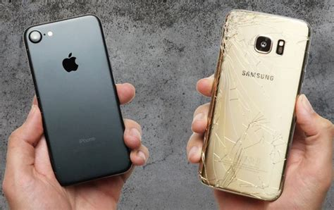 Harga Sideral iphone 7 vs samsung galaxy s7 edge drop test