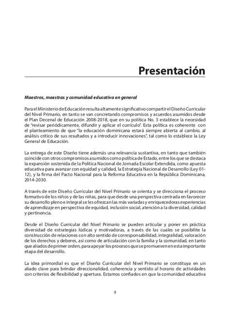 Dise O Curricular Dominicano Nivel Primario Segundo Ciclo diseno curricular nivel primario 1er ciclo