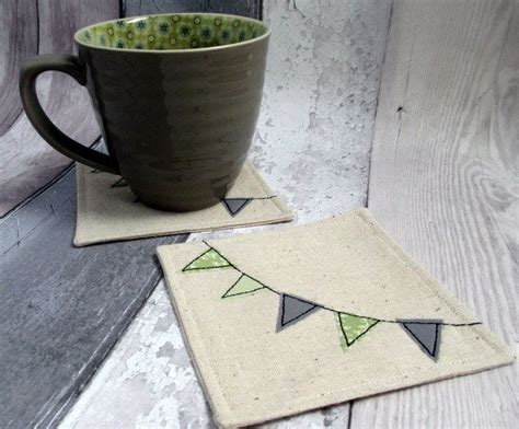 Decorative Coasters For Drinks by Bunting Appliqu 233 Coasters Drinks Coaster Set Coasters For Cups Decorative Cups Buntings