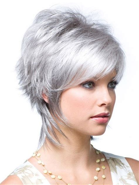 hair styles for thick wirey hair layered synthetic lace front grey wig grey halloween wig