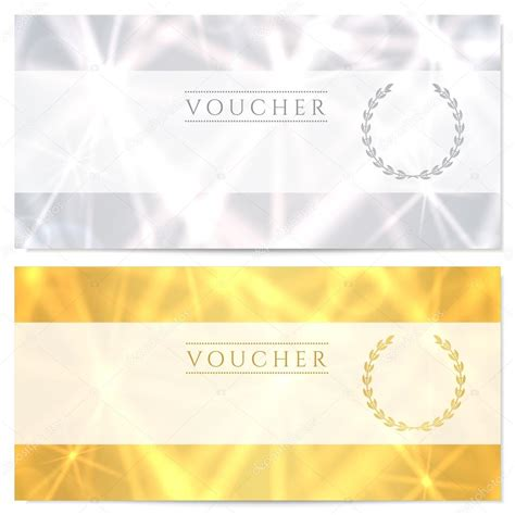 design background voucher gift certificate voucher coupon template layout with