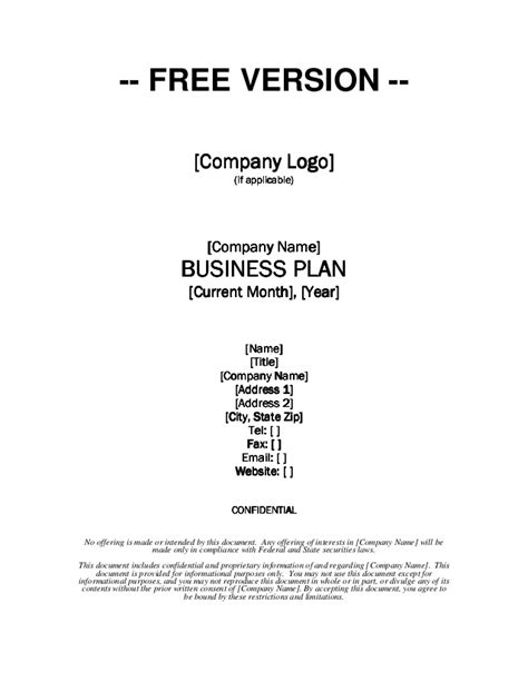new executive business plan template templates design samplesiness