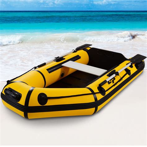 2 person fishing boat goplus 2 person 7 5ft inflatable dinghy boat fishing