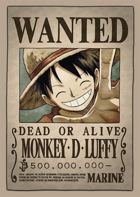 one luffy new wanted poster www pixshark